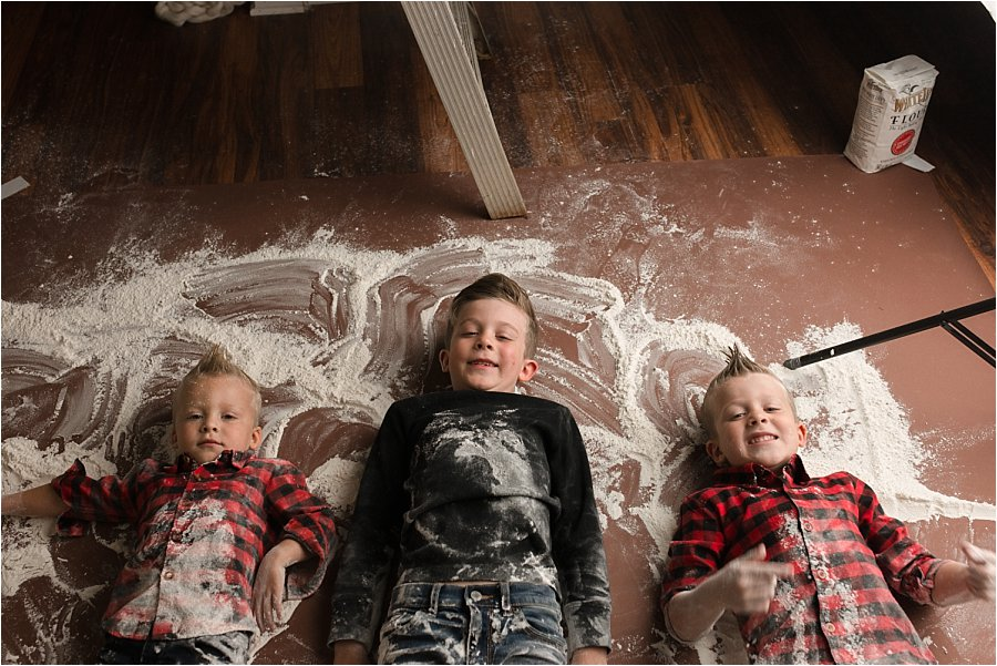 Rolling in flour for Christmas Gingerbread Photos Greenville SC