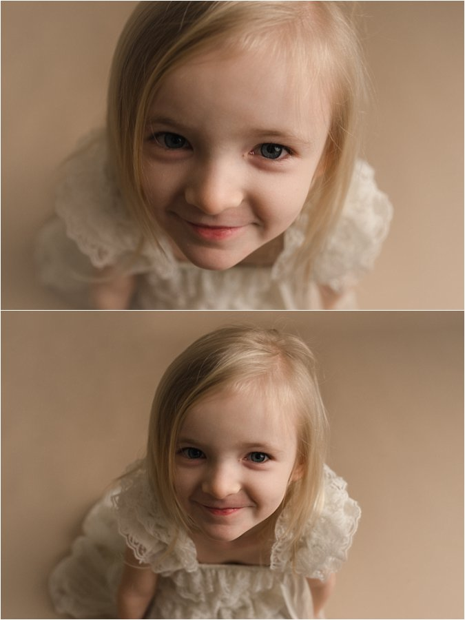 Simpsonville SC Child Studio Photography White on White