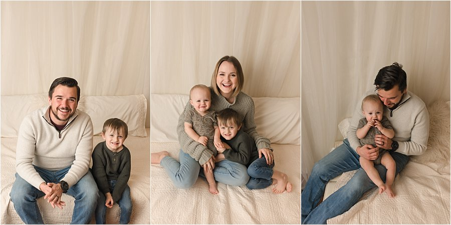 Simple Timeless Classic Family Studio Pictures Simpsonville SC