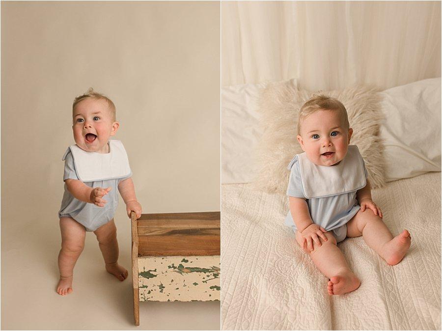 Nine Month Baby Boy Studio pictures Simpsonville SC