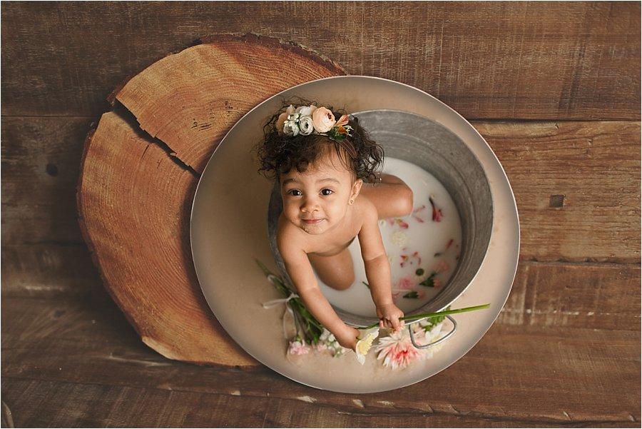 Baby Milk Bath Photos Simpsonville SC