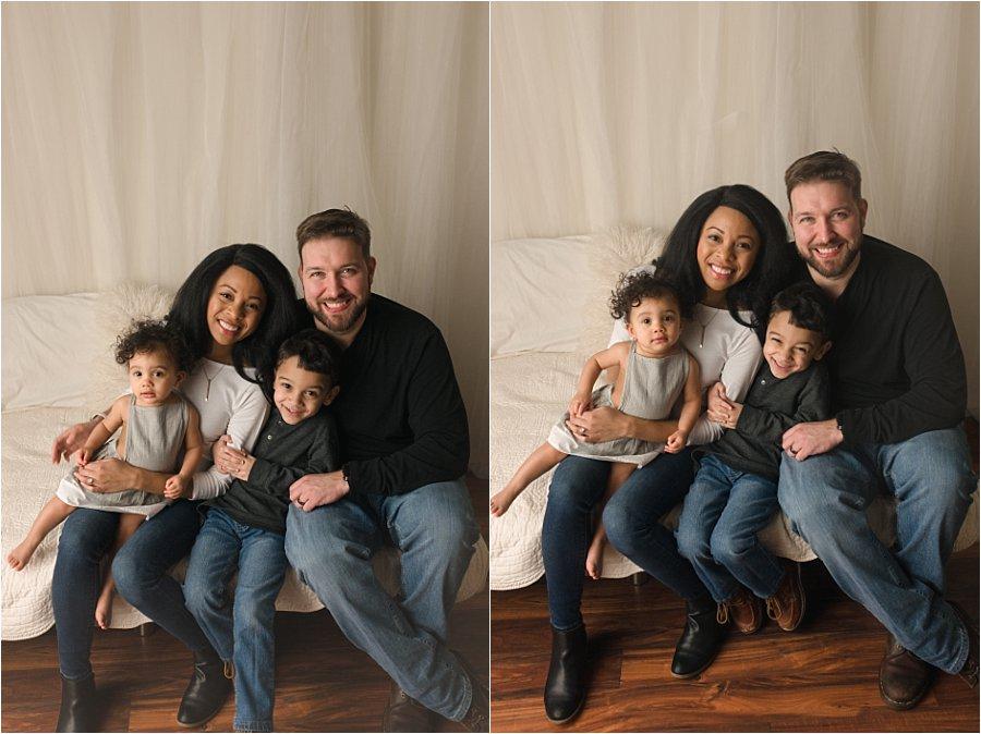 Studio Family Christmas Portraits Greenville South Carolina