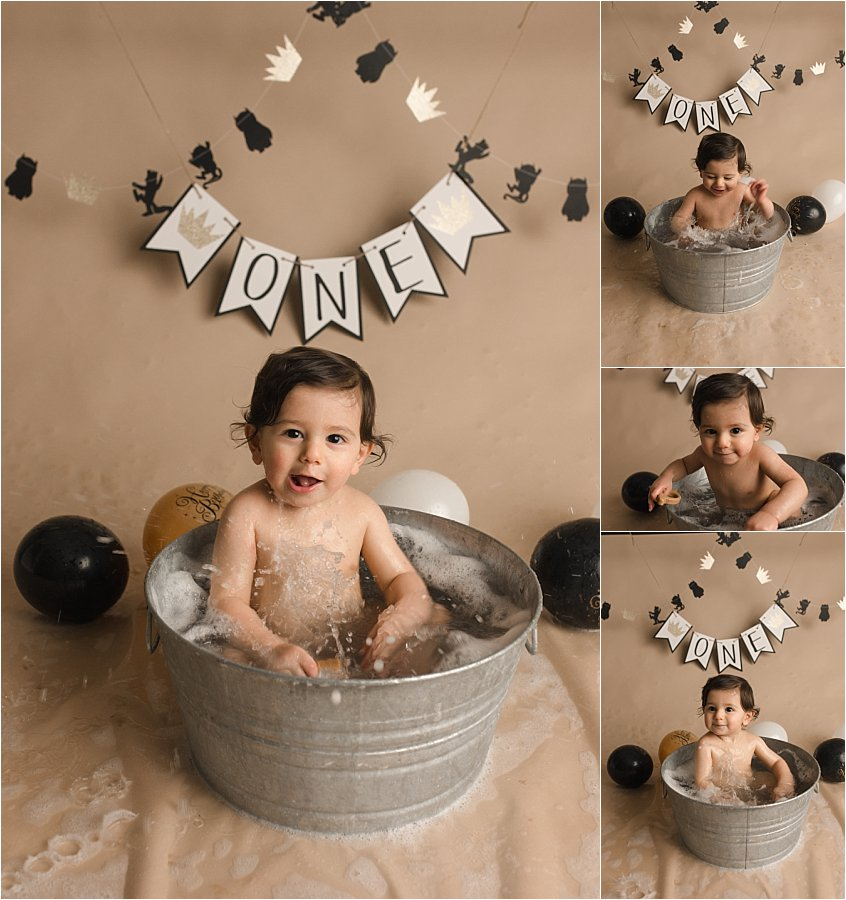 One year Old Bubble Bath Photography Greenville SC