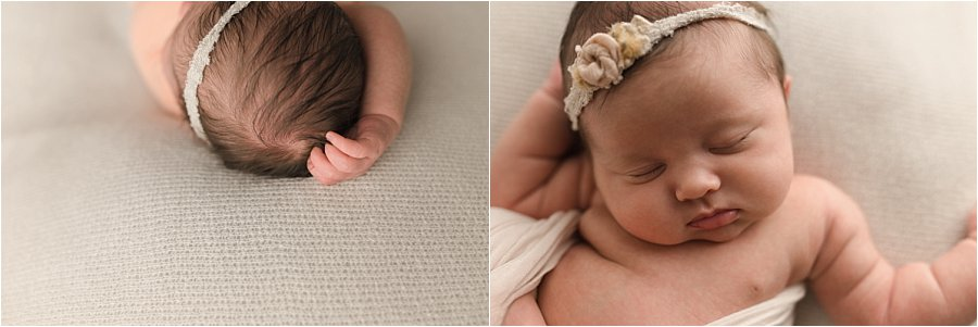 Timeless Classic Baby On white Newborn Pictures Greenville SC