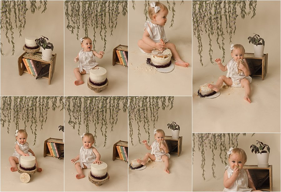 Simple Dreamy Cake Smash Photos Greenville SC
