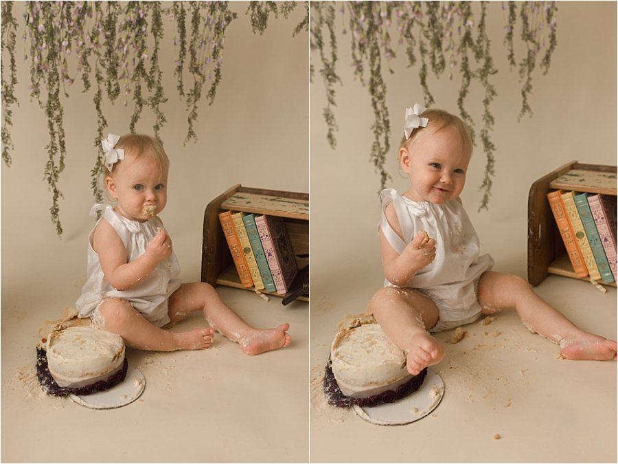 Simple Dreamy Cake Smash Photos Simpsonville SC