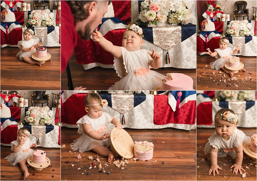 First Birthday Cake Smash Photographer Simpsonville SC