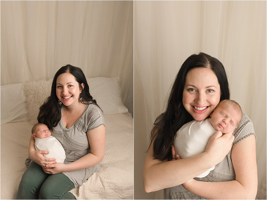Mom and Baby Pictures simple studio photographer Spartanburg SC