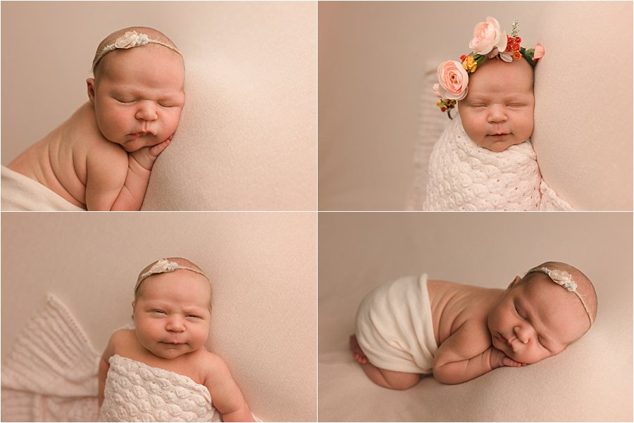 Greer SC Newborn Baby Girl Pictures Baby on Pink