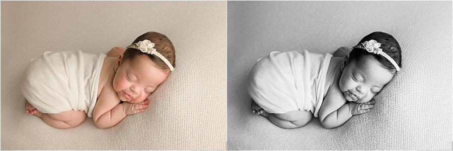 Classic Minimalist Newborn Baby Photography Greer SC