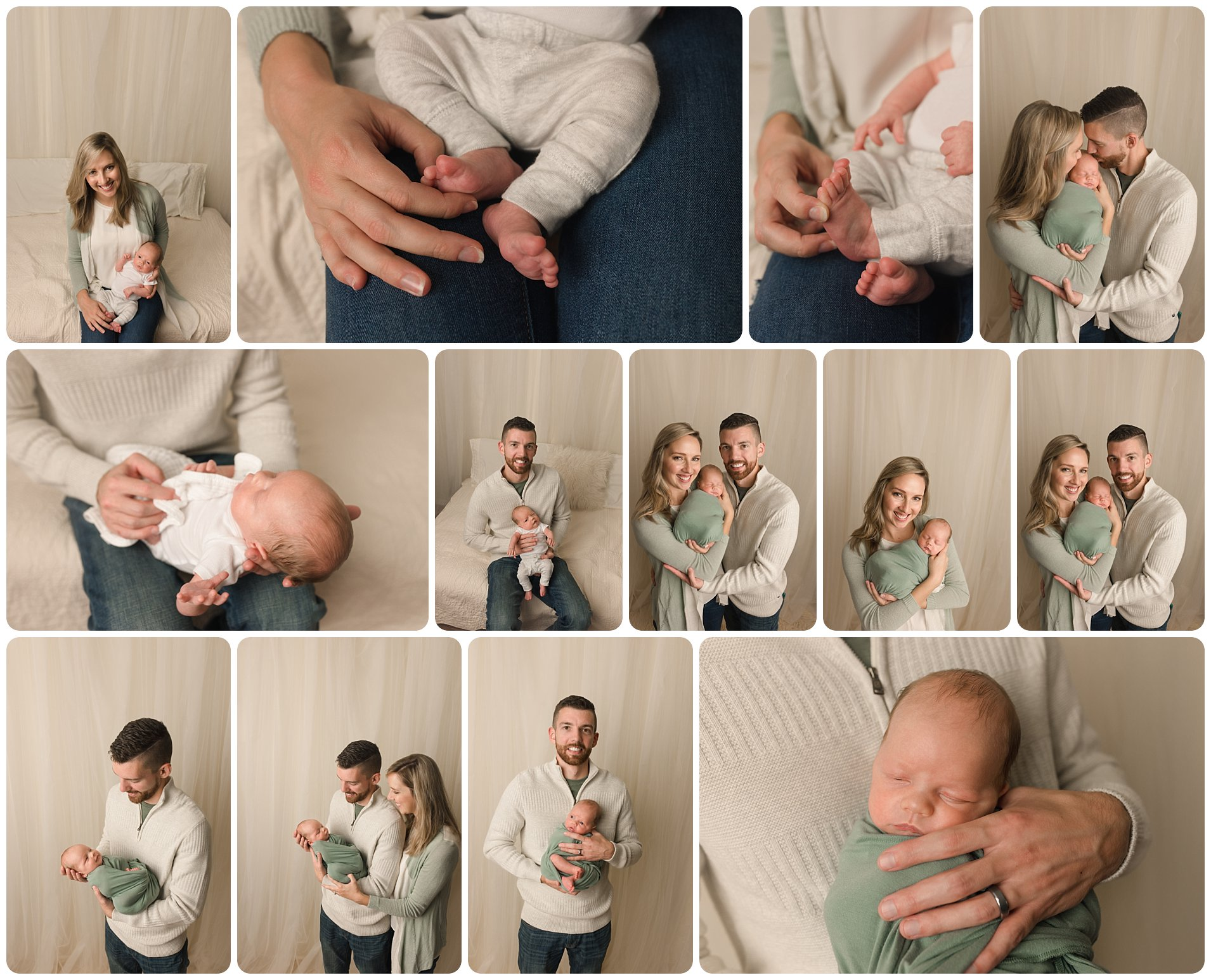 Lifestyle simply posed newborn family photographer in Greenville SC