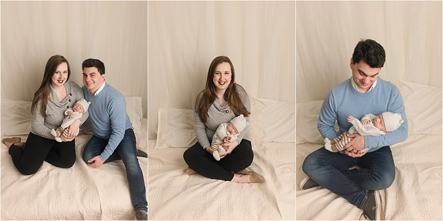 Casual newborn photography in a studio Mauldin SC