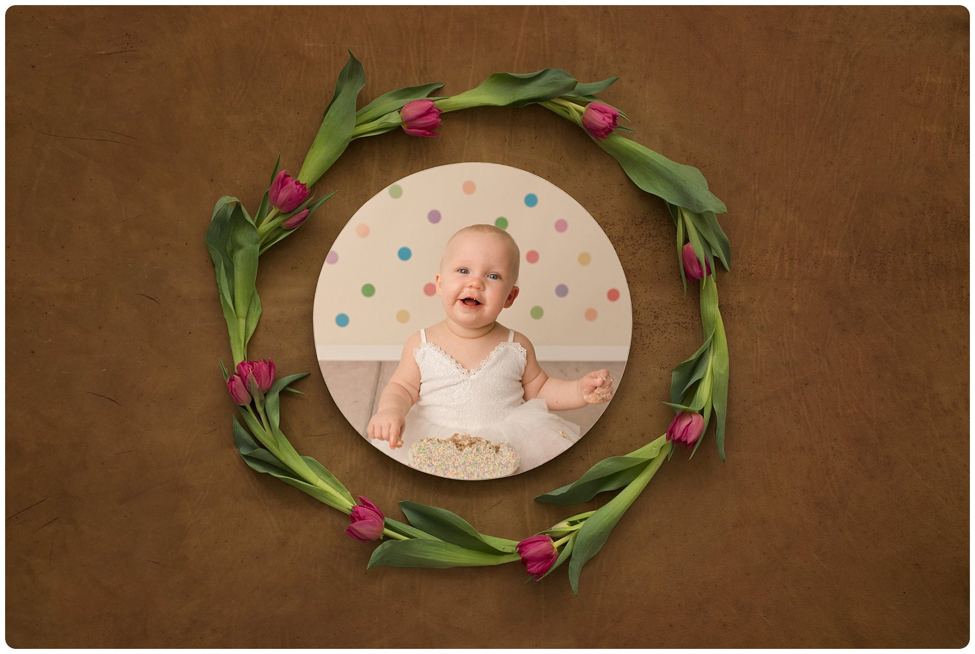 Greenville SC Cake Smash One Year Old Baby Photography