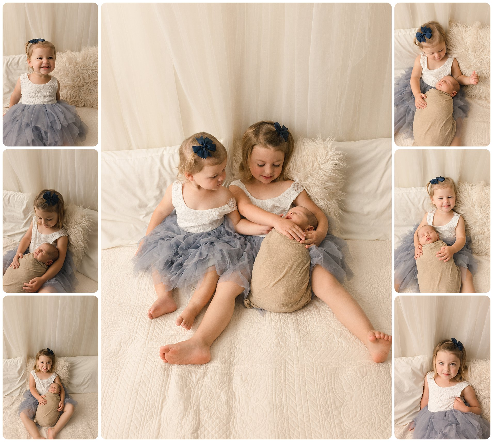 Spartanburg Newborn Baby Photos with Siblings Sisters Brothers