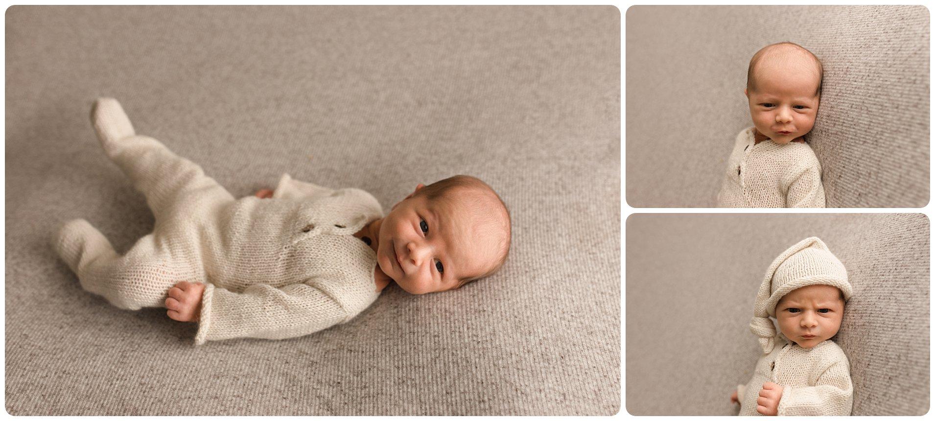Earthy Baby Boy Newborn Pictures Greer SC
